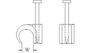 Nagel Kabelclip / Nagelschelle für 10mm Kabel 100Stück